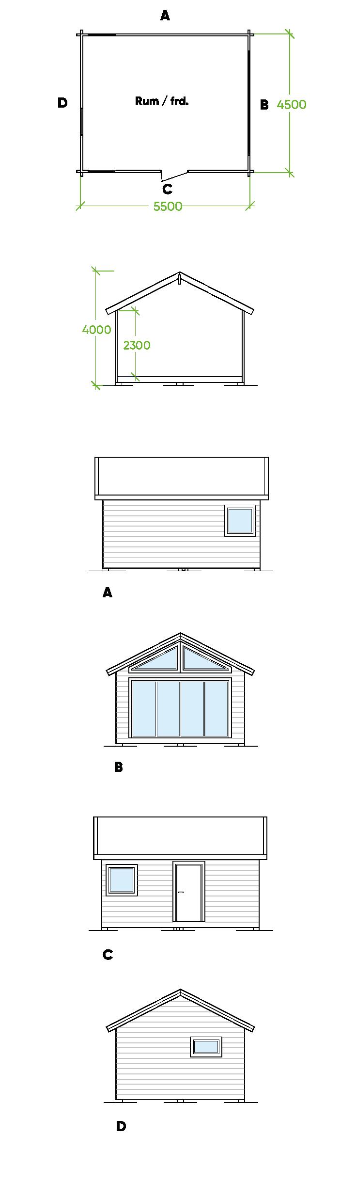 Planritning Bygg och trä - Innansjön