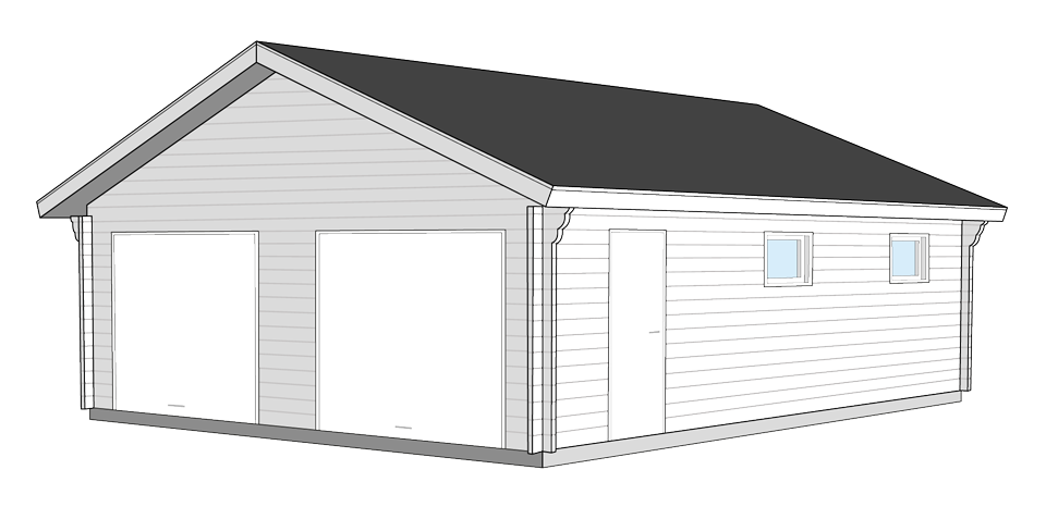 Garage 9x7kvm Nordträ